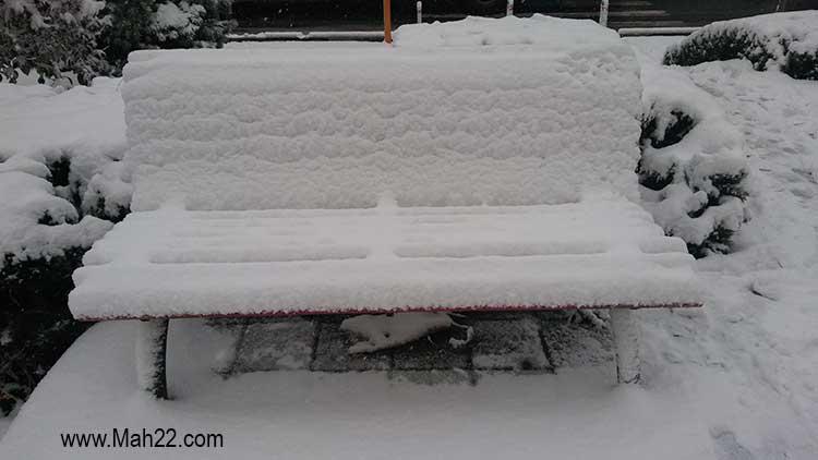 زمستان زمستان در منطقه 22 تهران. عکس های برف زمستانی