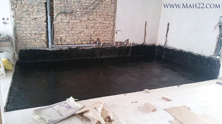 نمونه کار قیرگونی آشپزخانه در منطقه 22 تهران قیرگونی در منطقه 22 خدمات ساختمانی قیرگونی در منطقه 22 تهران