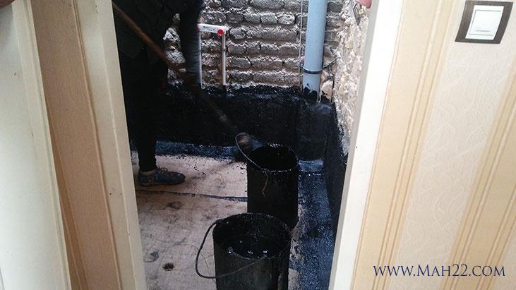 نمونه کار قیرگونی حمام قیرگونی در منطقه 22 خدمات ساختمانی قیرگونی در منطقه 22 تهران
